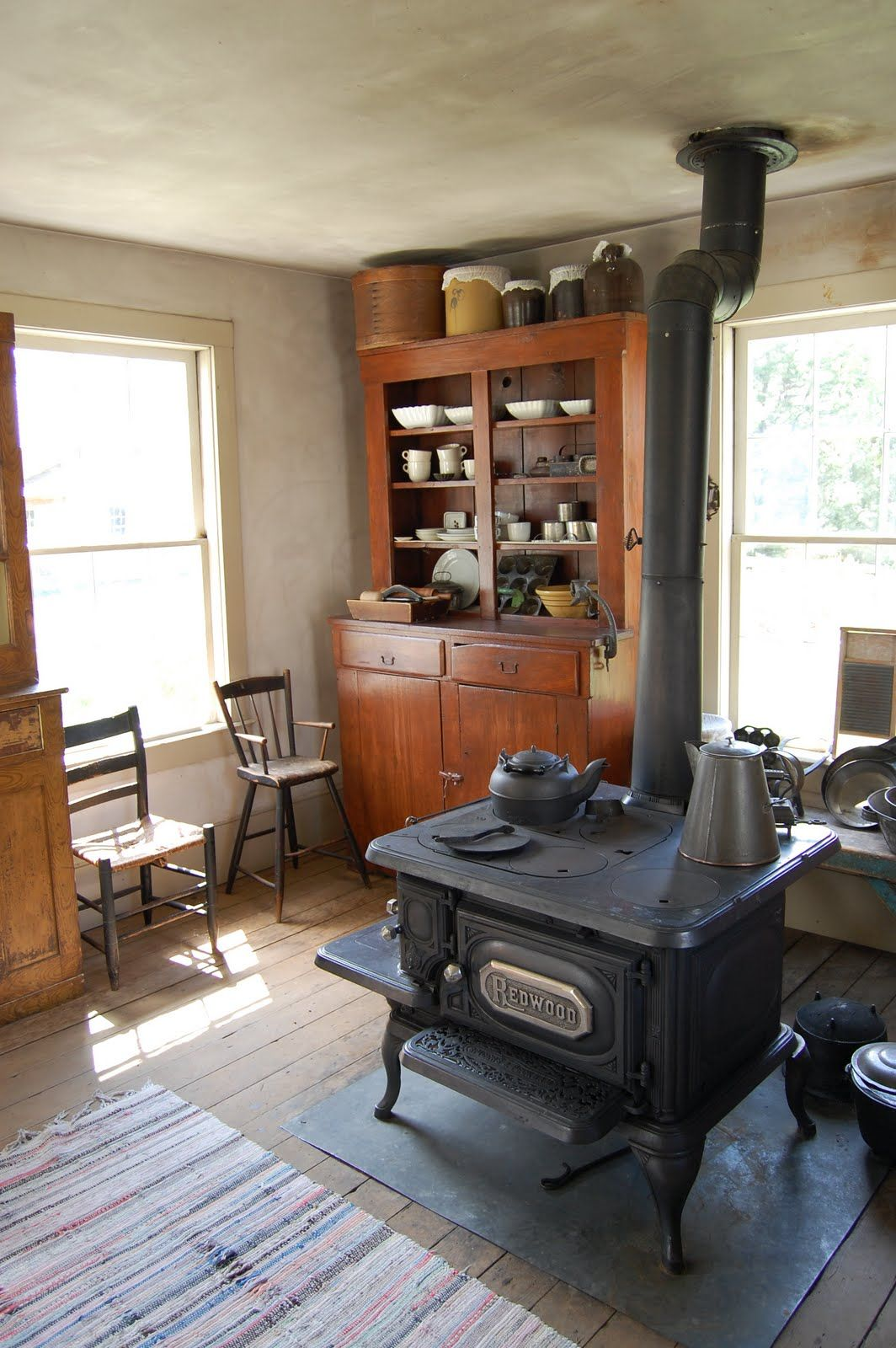 Tiny House Appliances >> historic farmhouse - Google Search | Antique wood stove ...