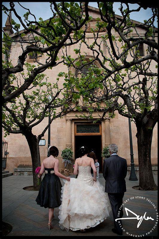 Bride arriving for her wedding in Alella, Barcelona ----Photographs by Dylan McBurney