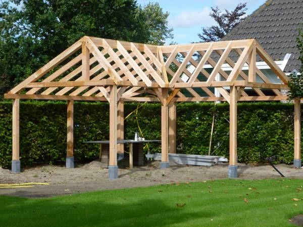 Douglas buitenverblijf en houten veranda 39 s uit constructie douglashout voorbeeld veranda 39 s - Voorbeeld van houten pergola ...