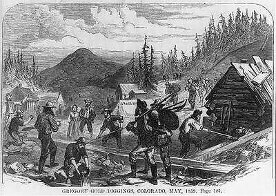 Photo: Miner,Gregory Gold Digging,John Gregory,strike,CO,c1859
