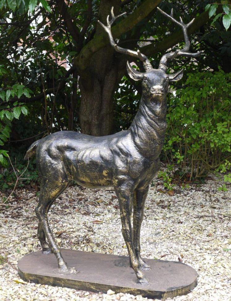 Wonderful Life Size Stag Bronze Deer Garden Statue   Left