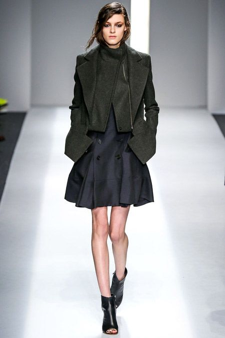 Military Green Coat with Jacket Detail Cut | Chic #military#green#fashion #trend for Fall Winter 2013  ICB F/W 2013  #trends #trendy