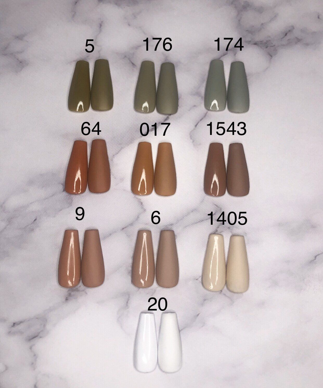 Excited To Share This Item From My Etsy Shop Earth Tone Glossy Or Matte Choice Press On Acrylic Nails 10 Set Any S In 2020 Acrylic Nails Nail Length Nail Sizes