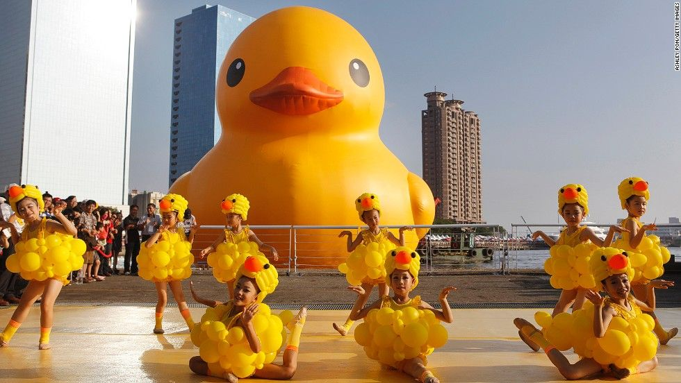 i found my new halloween costume haha giant inflatable duck that