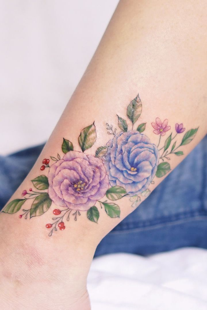 ef0664fa0 60+ Stunning Flower Tattoos For Girls and Women | Arty | Pinterest | Tattoos,  Wildflower tattoo and Flower tattoos