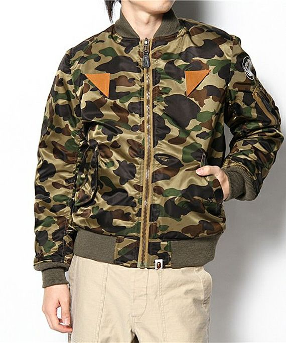 A Bathing Ape - 1st Camo Flight Jacket | FreshnessMag.com ...