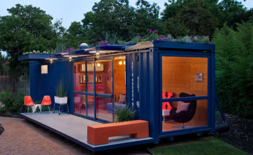 Case din containere maritime cu terasa ideas projects for Tall shipping container
