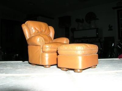 Take A Seat Raine Miniature Leather Easy Chair And Foot