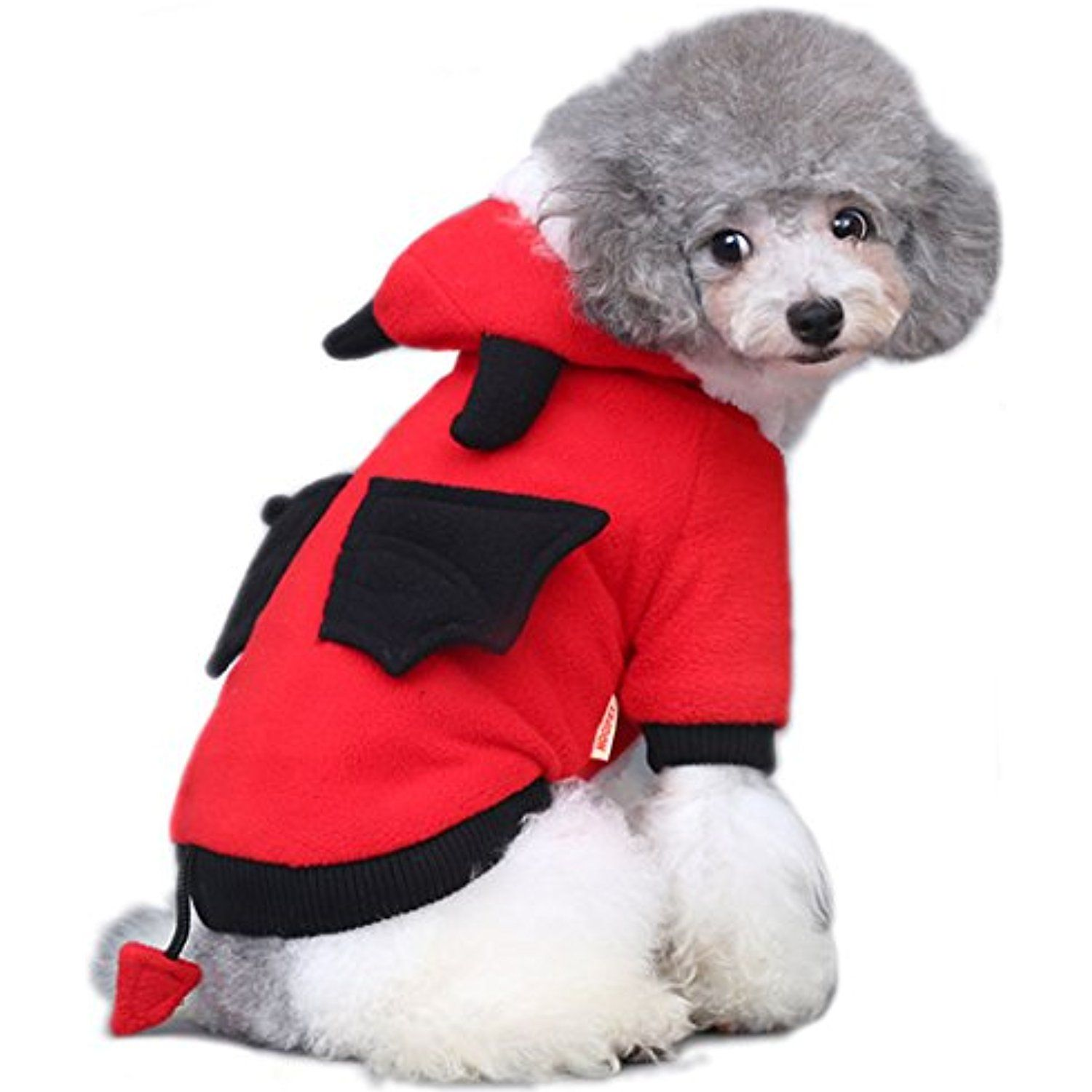 Onmygogo Devil Costumes for Dogs and Cats, Pet Clothes Dress for ...