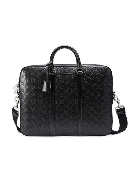 d1a0c7f80 GUCCI GUCCI GUCCI SIGNATURE BRIEFCASE - BLACK. #gucci #bags #lining # accessories #shoulder bags #phone case #suede #hand bags #nylon | Gucci |  Leather ...