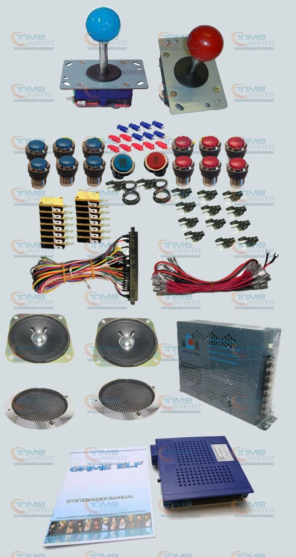 Arcade parts Bundles kit with Game elf 750 in 1 Joystick ...