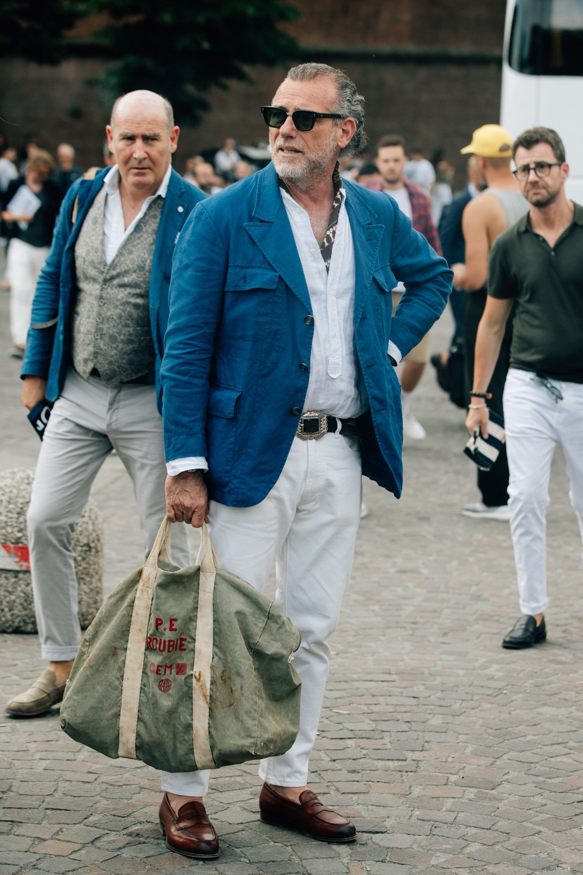 Street Style Fashion: Great Hair to the Artist - Fashables |Italian Mens Summer Street 2013