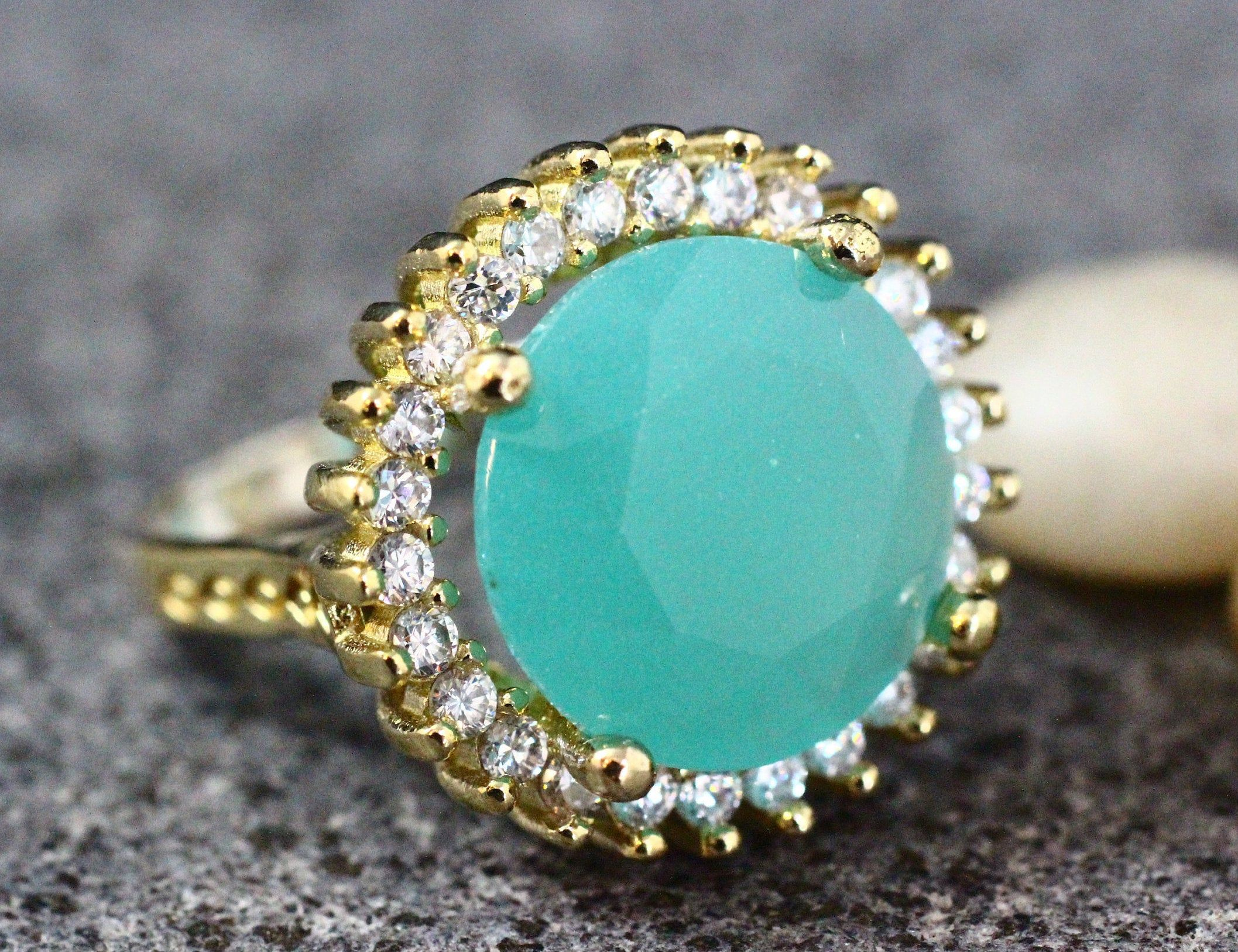 Silver 925 Ring Silver Ring Ottoman Style Set Sterling Silver 925 Aquamarine Handmade Set Ottoman Style Ring Gift for her Earring