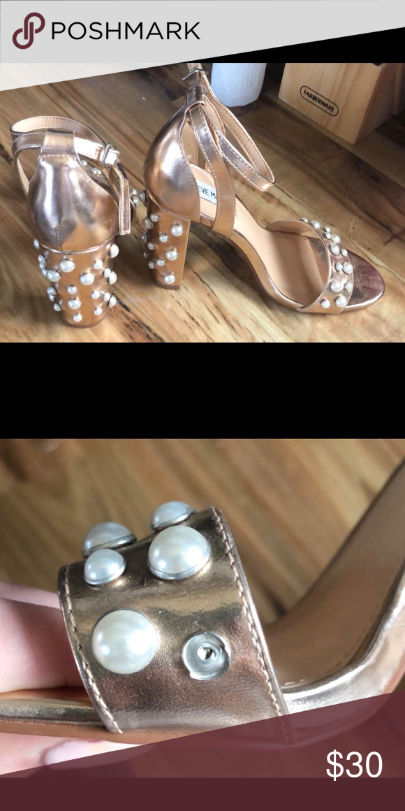d2bcb2669a4 Heels. Never worn Missing a pearl. Bought that way. Never worn ...