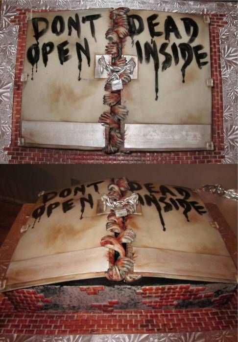 The Walking Dead Cake... Sandy- act surprised when I bring this for you next year