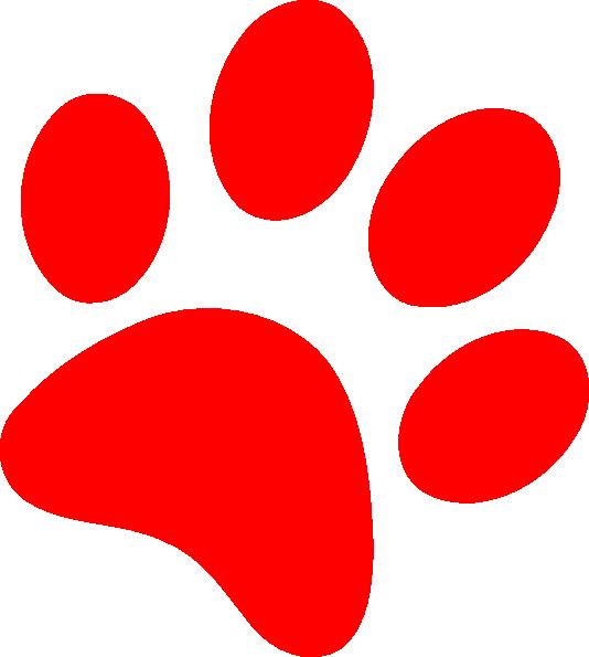Uk Wildcat Paw Prints Clipart Clipart Best Paw Print Clip Art Paw Print Clip Art