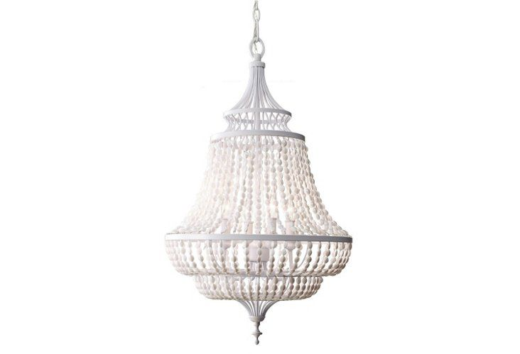 A modern chandelier that's perfect for a casual dining room.