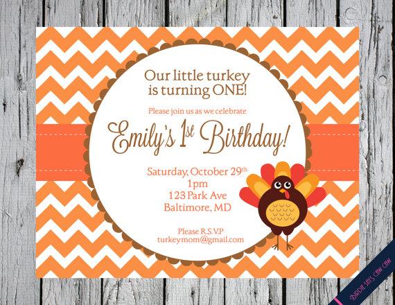 Little Turkey Printable Birthday Party by BirdieSaysCawCaw on Etsy