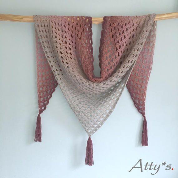 Happy Whirl Shawl crochet pattern, pdf | Schal häkeln, Dreieckstuch ...