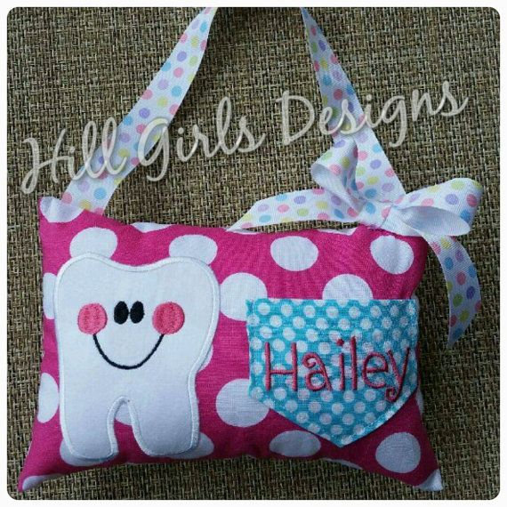 Tooth Fairy pillow with pocket by HillGirlsDesigns on Etsy