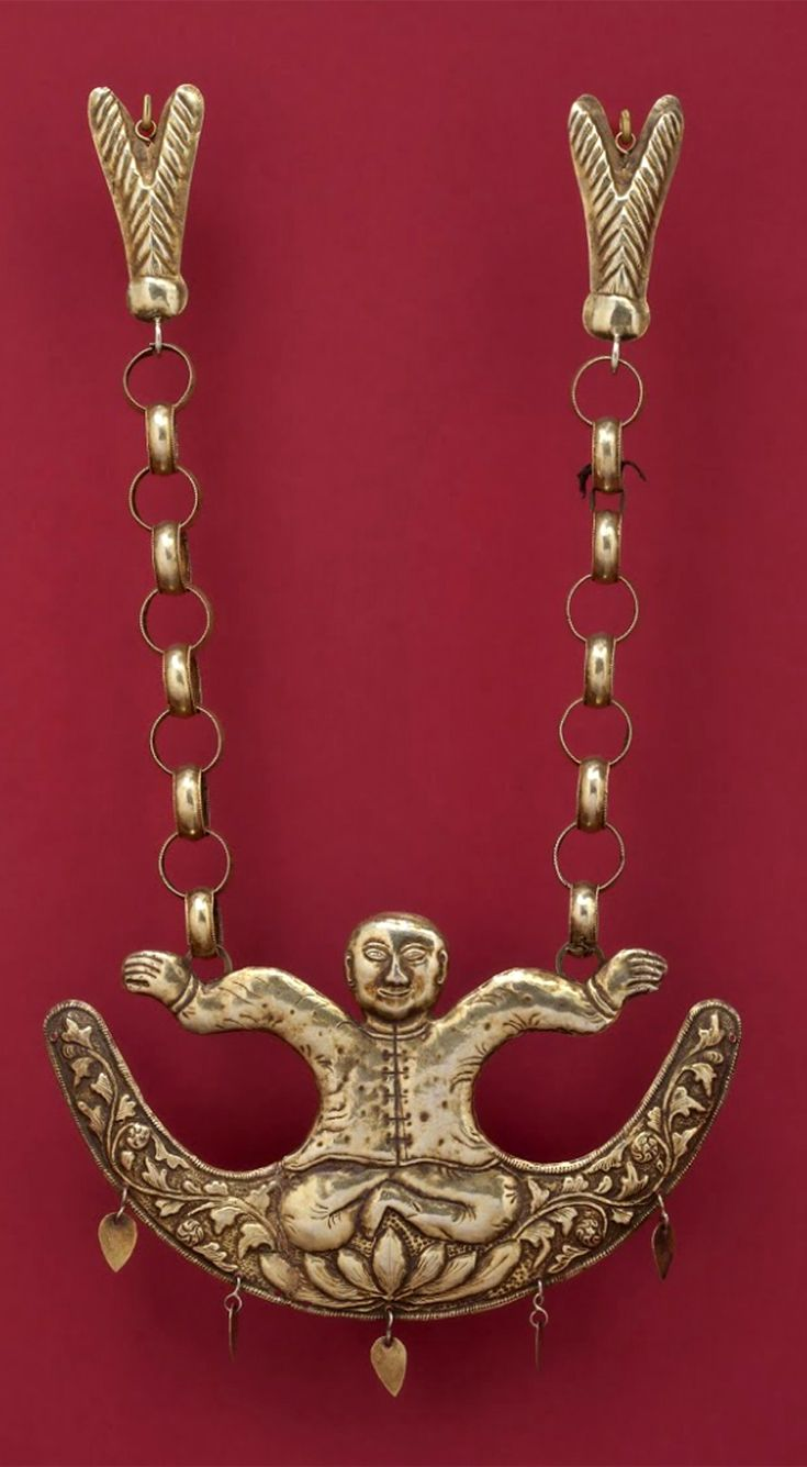 Indonesia Moluccas Pendant Hammered Gold 19th Century Gpa