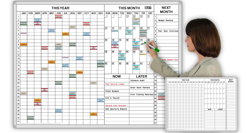Year Calendar Magnetic : Personal year ™ time task planner magnetic dry erase