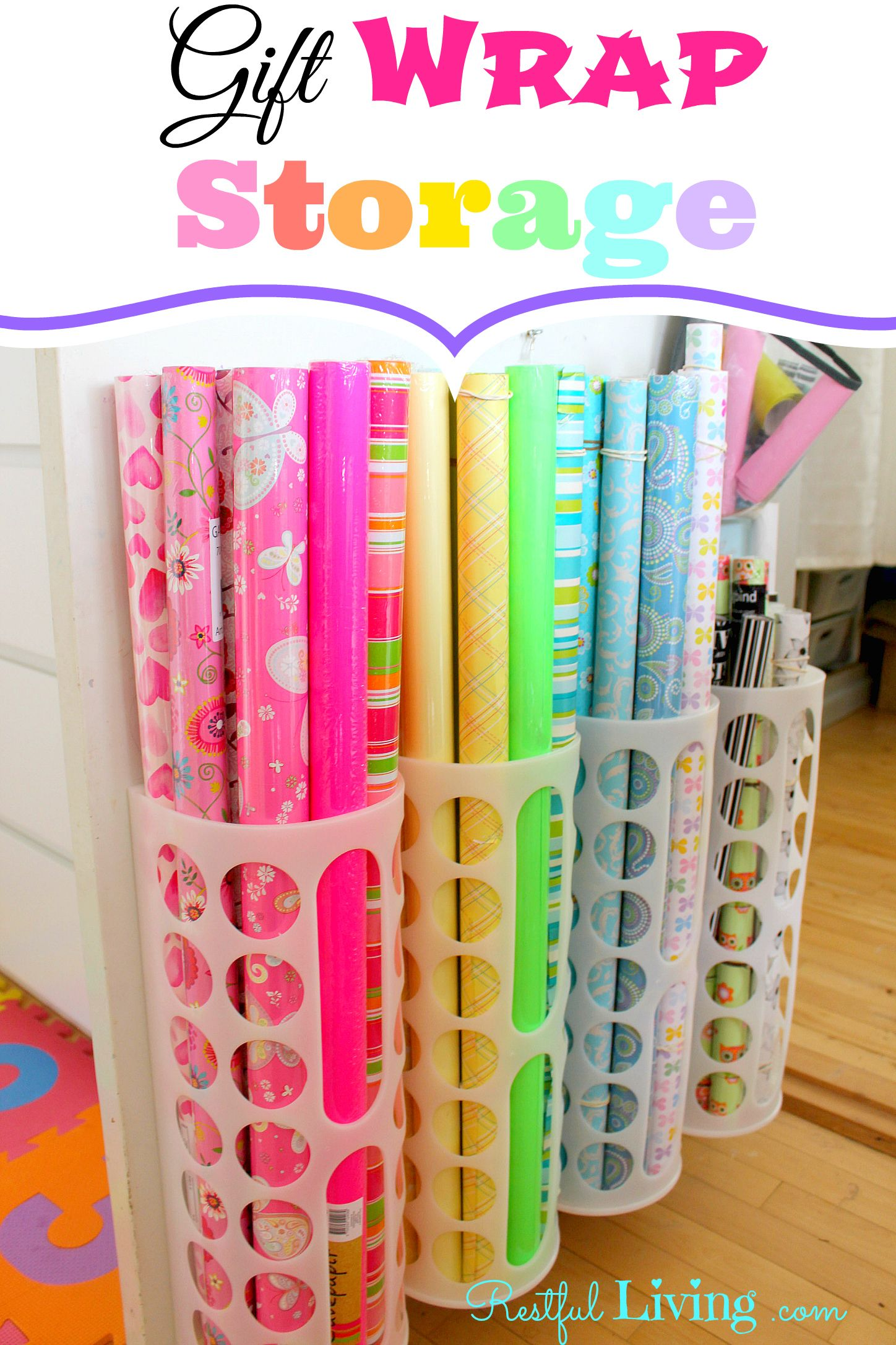I added Gift Wrap Storage Restful Living to an inlinkz linkup