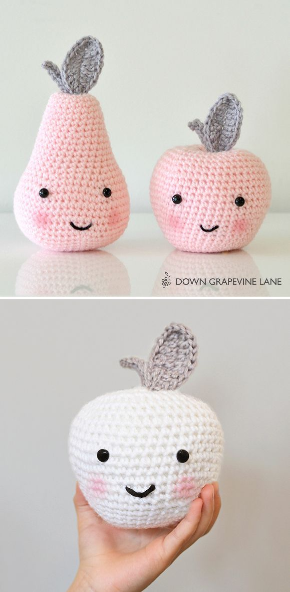 Crochet apple pattern Más | clari ganchillo para hacer | Pinterest ...