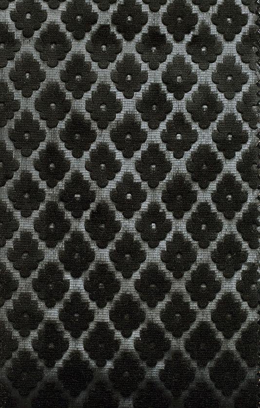 Cassandre Velvet Upholstery Fabric Black Henley Velvet Collection