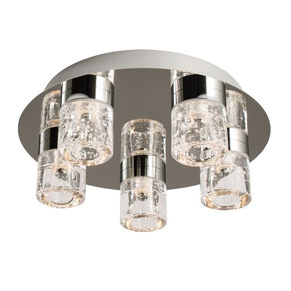 Endon imperial 5lt flush bathroom light chrome plating ceilings and chrome