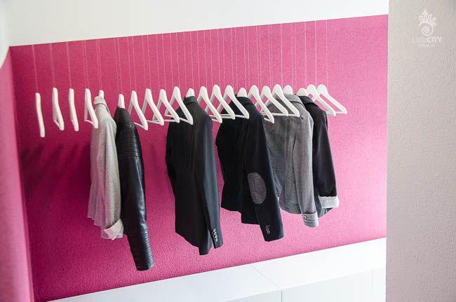 schwebender kleiderständer mit silch – ikea-hack [diy] | home, Innenarchitektur ideen