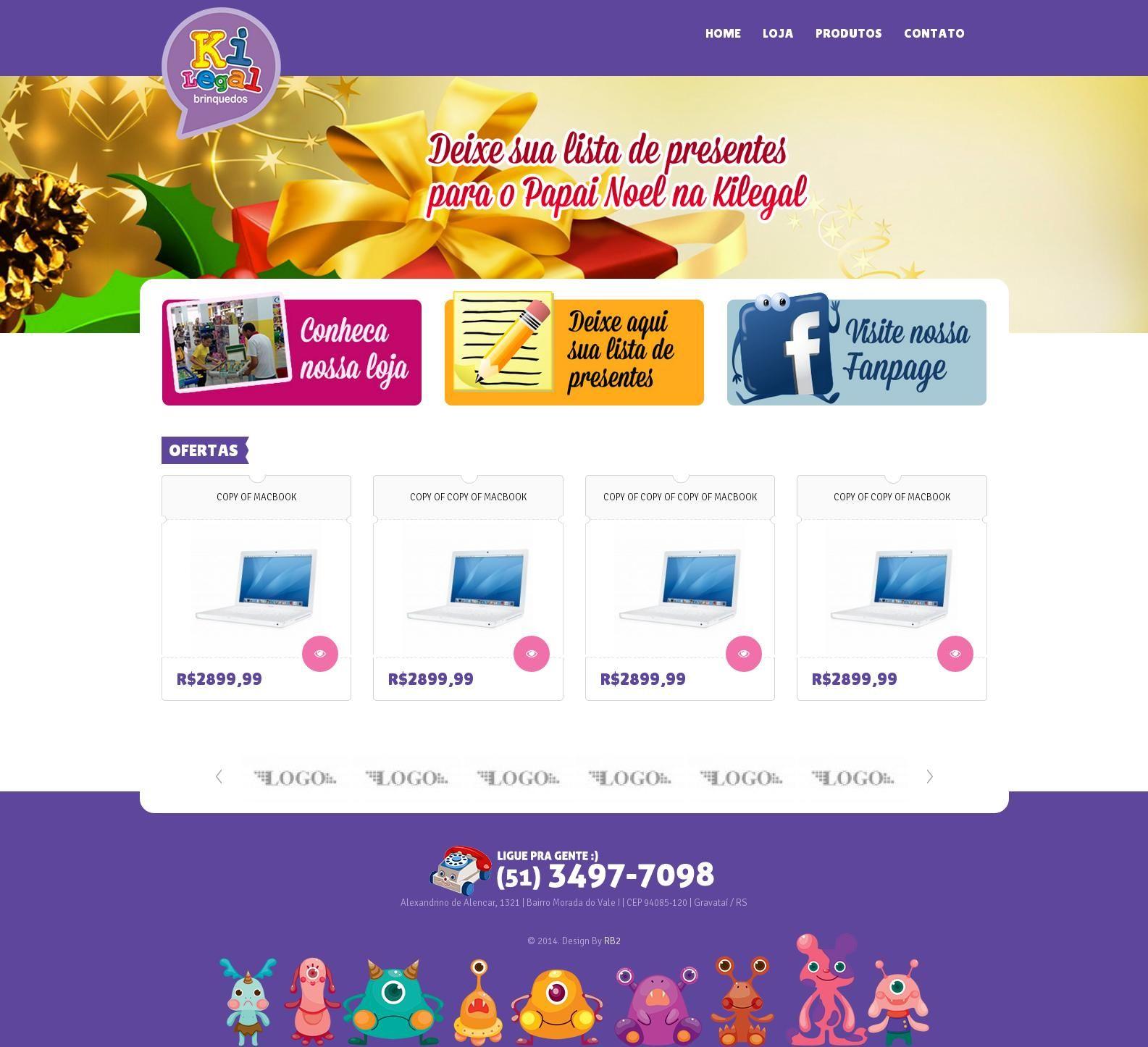 Joomla - Kilegal Brinquedos  Criação de tema para Joomla!