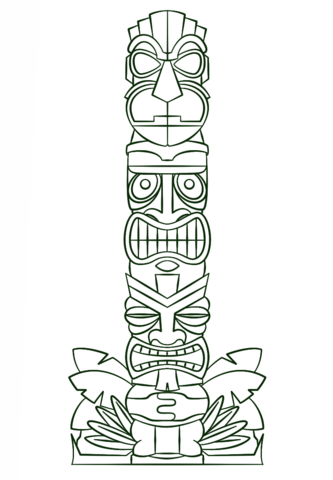 Tiki Tribal Pole Coloring Page From Category Select 28356 Printable Crafts Of Cartoons Nature Animals Bible And Many More