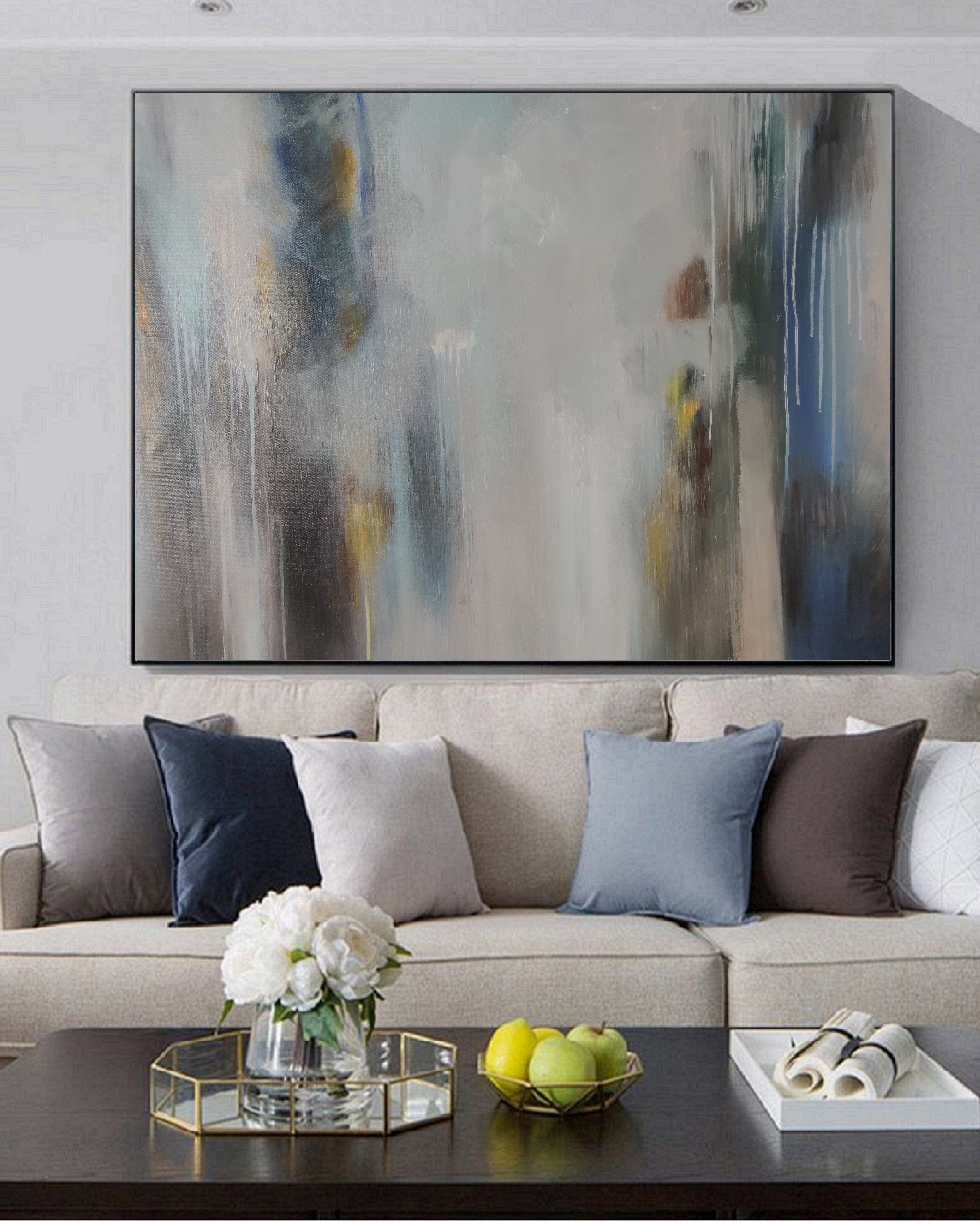 Original Abstract Oil Painting Living Room Decoration Abstract Oil Painting Personal Customized La Painting Simple Oil Painting Oil Painting Abstract