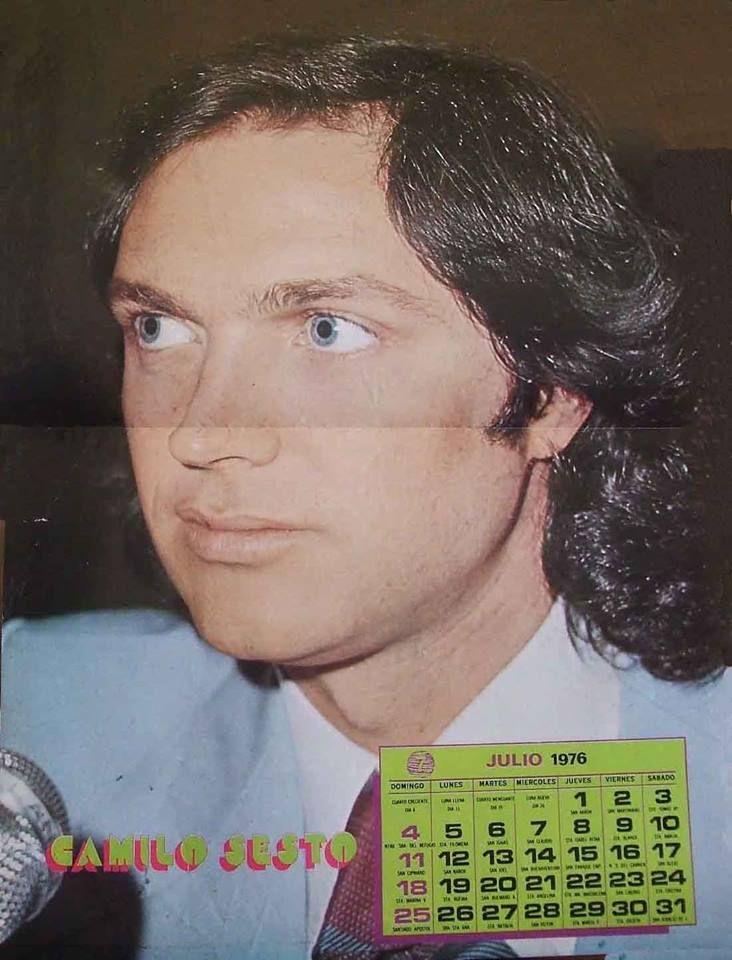 Calendario Julio 1976.Camilo Sesto Poster Calendario Mes Julio 1976 Camilo Sesto