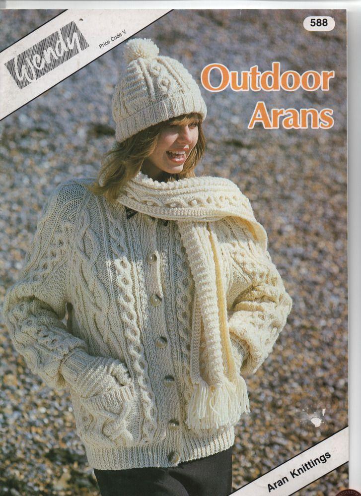 WENDY ARAN OUTDOOR family knits pattern booklet   Aran ...