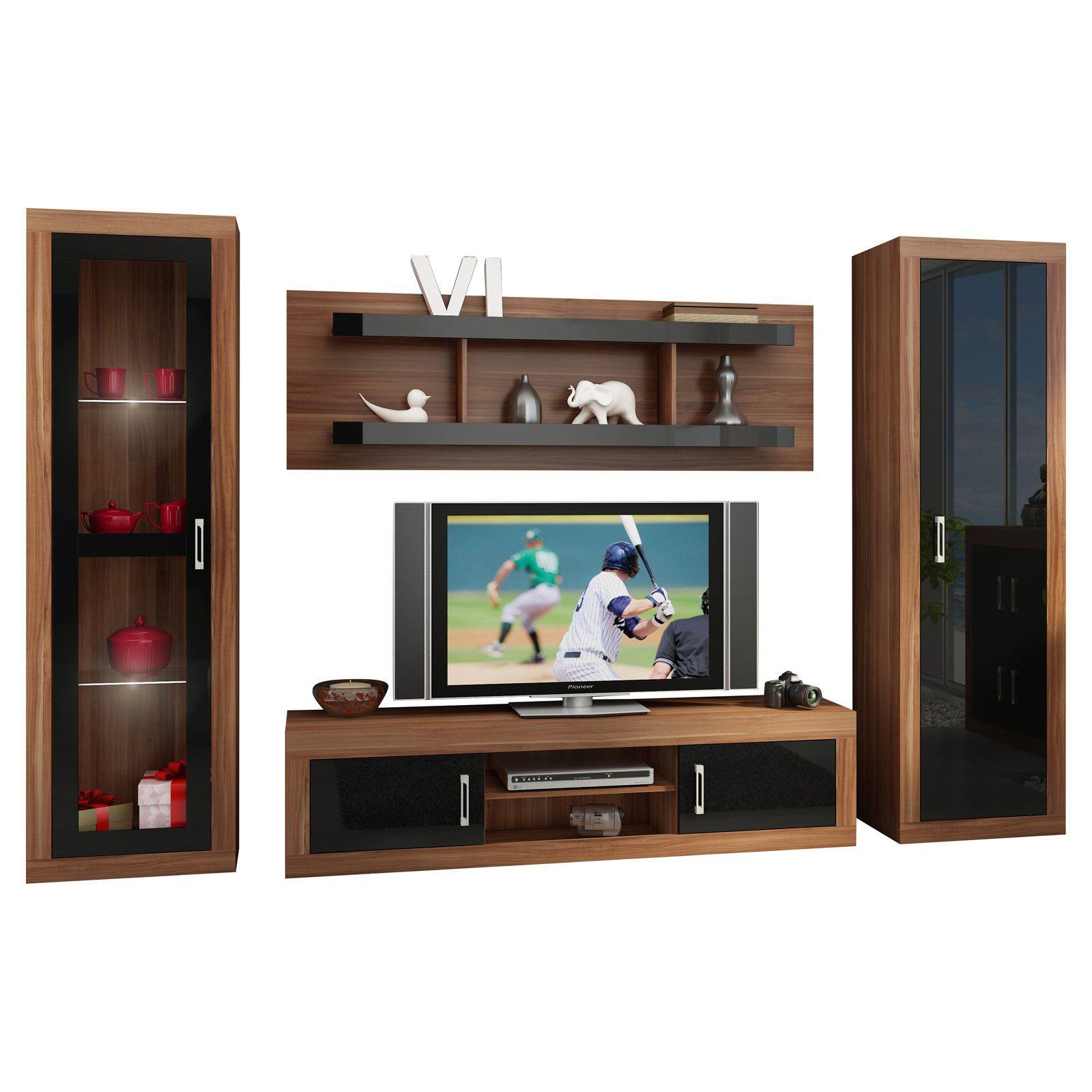 Furniture Agency Verin 4 Piece Low Profile Tv Set Furniture Entertainment Furniture Entertainment Center