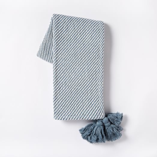Diagonal Stripe Throw