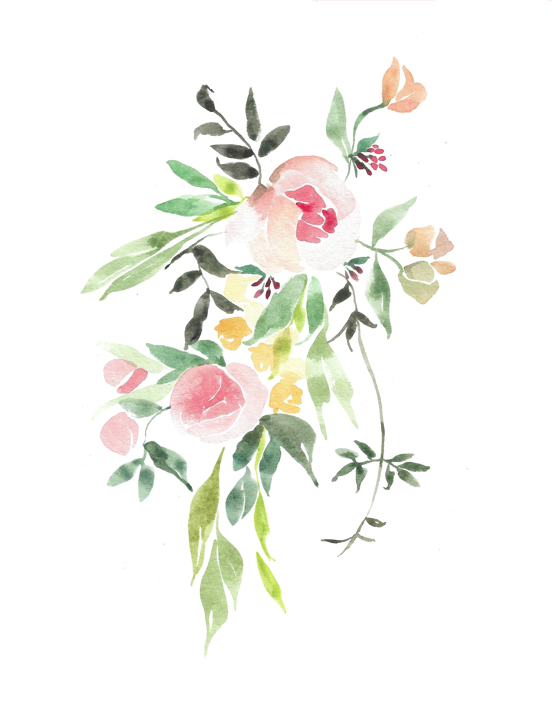 Jasmine Peony Watercolour Art Print By Lovekarladesigns On Etsy