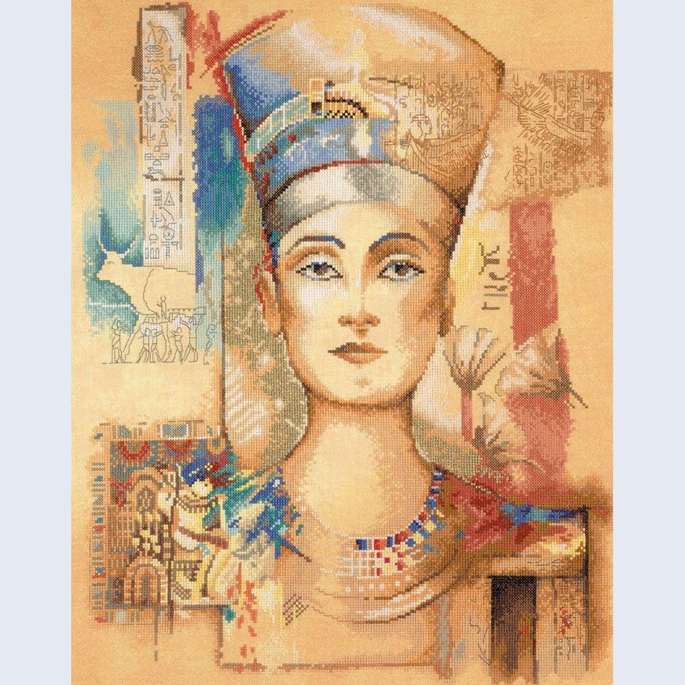 Queen Nefertiti - counted cross-stitch kit Lanarte | People Cross ...