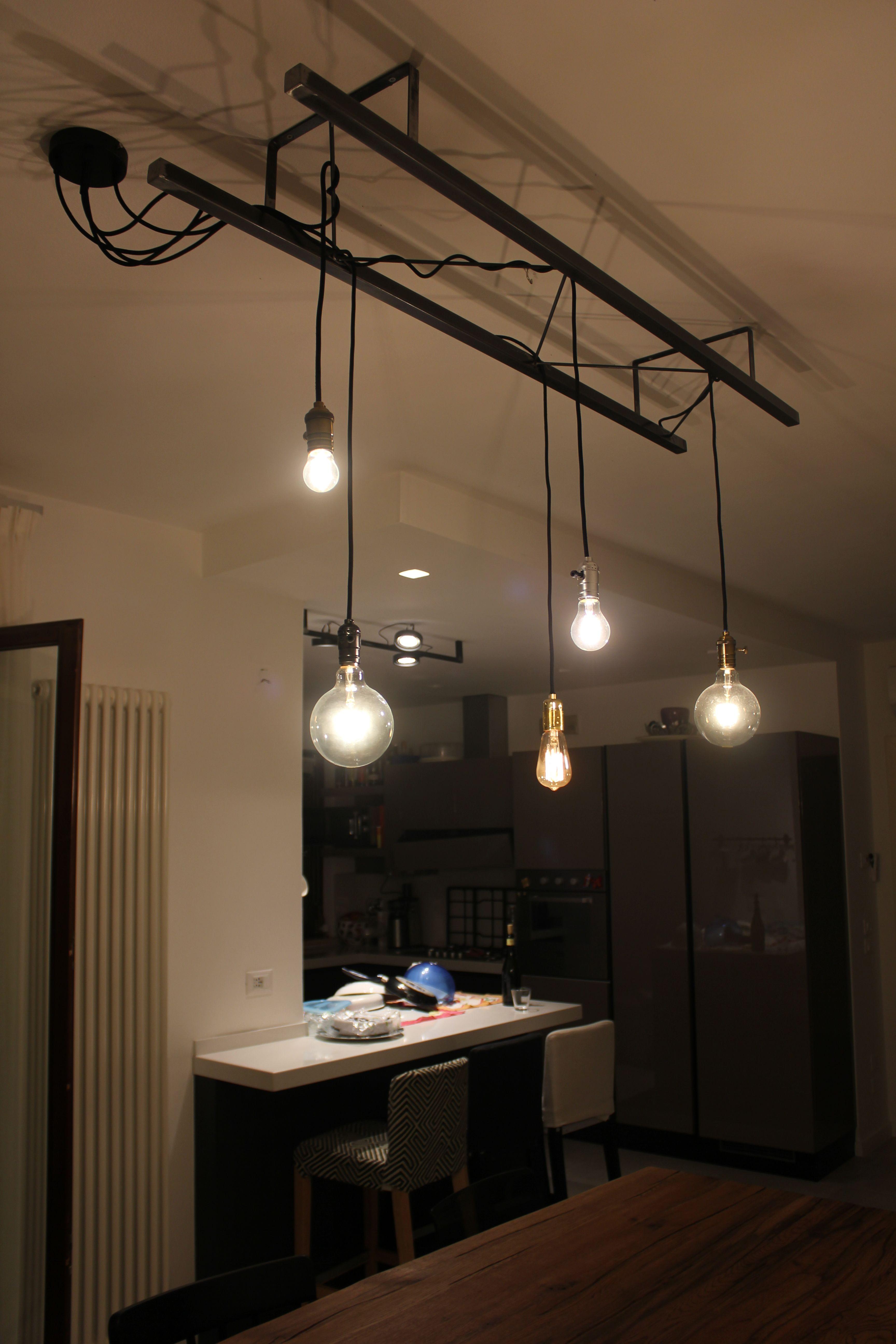 Lampada Vintage Industriale : Lampade per soggiorno vintage puzzle round lampada a soffitto o