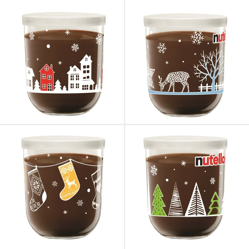 Nutella Christmas Glass Jar 200g Assorted Nutella Glass Glass Jars Christmas Jars