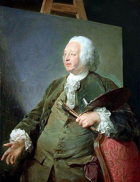 1753 Jean Baptiste Perronneau Portrait Of Jean Baptiste Oudry Artist Painting Art