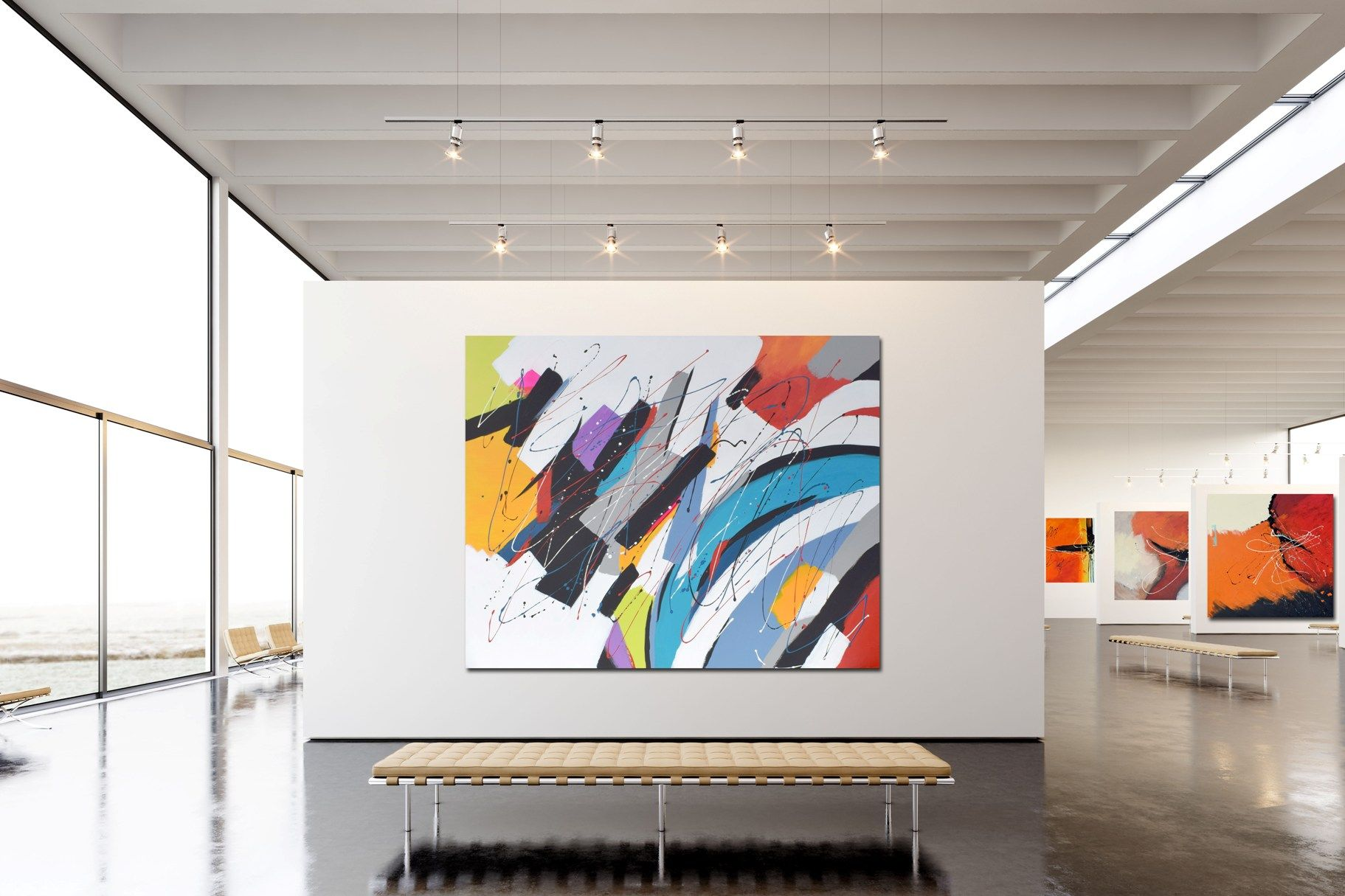 abstrakte kunst online kaufen moderne abstrakt portraits künstler bilder schwarz weiß