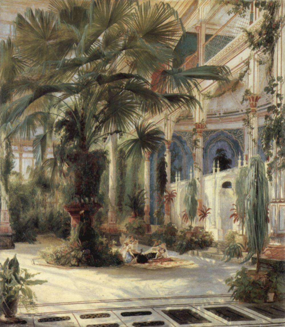 Karl Blechen: Palm house of Karl-Friedrich Schinkel
