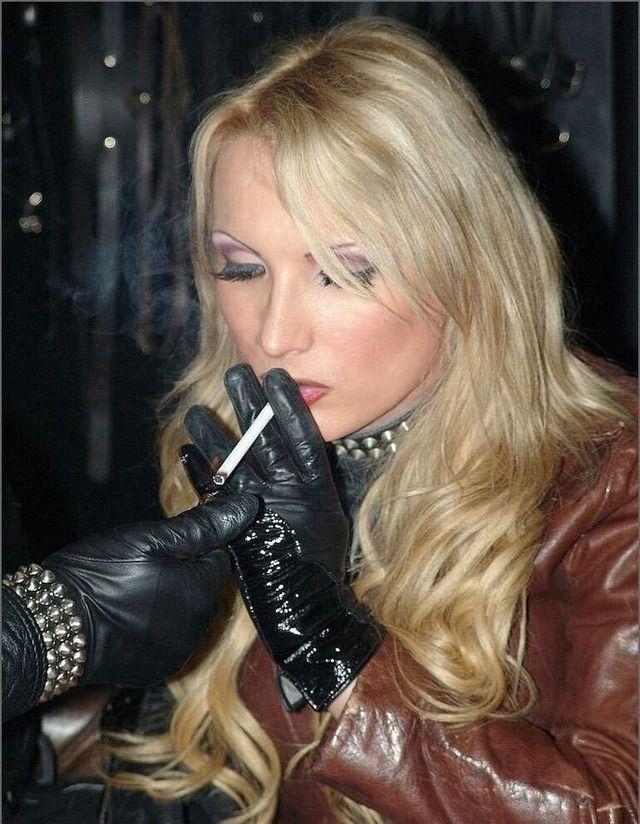 Gloves Smoking Cigarettes - Superb Porn-7425