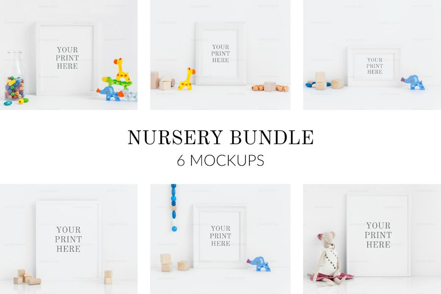Nursery Frame PSD Mockup Free Template | Design Resource | Pinterest ...
