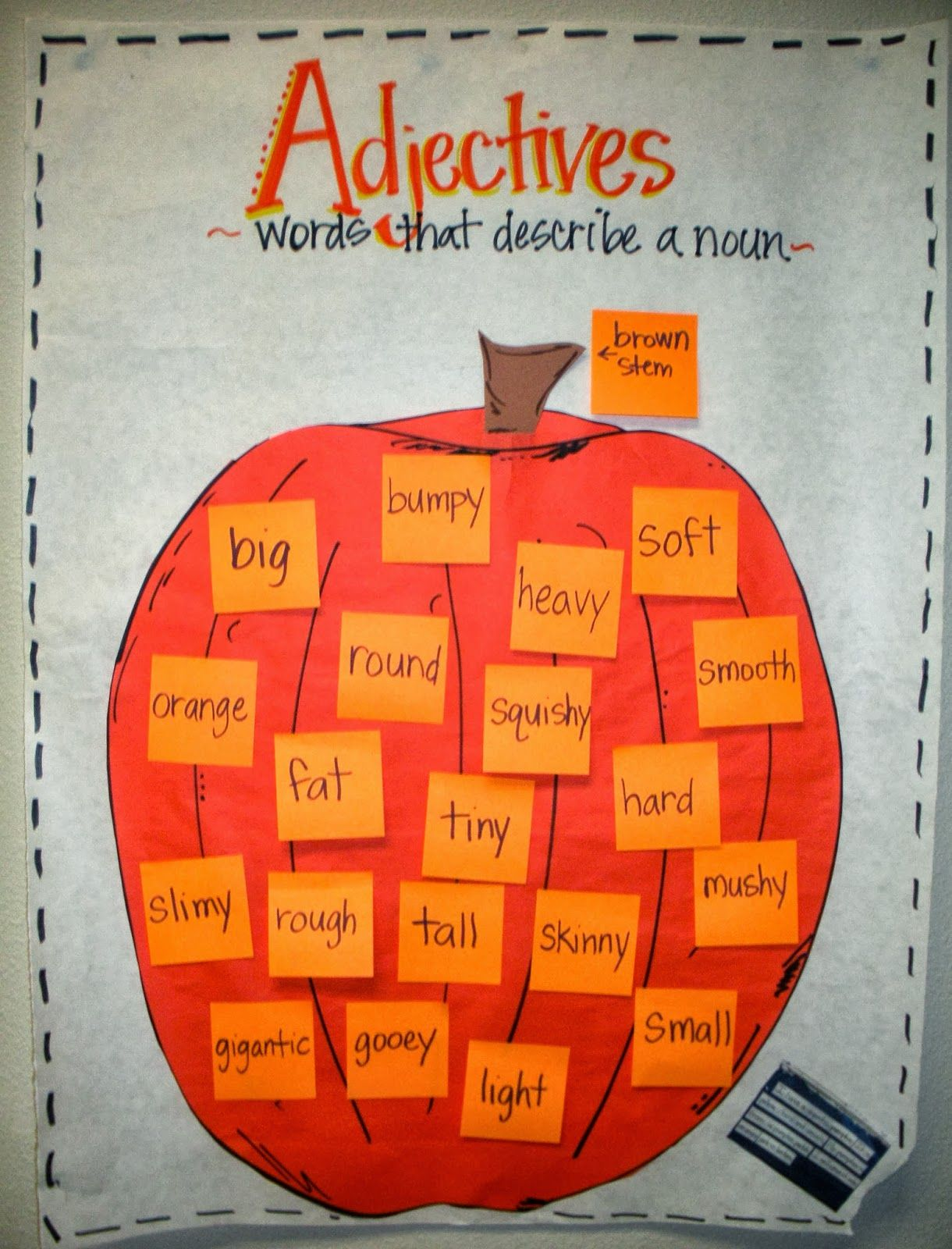 Worksheet First Grade Adjectives pumpkin adjectives parts of speech pinterest anchor charts cute chart rowdy in first grade and reading rings like the idea posting a picture that students choose