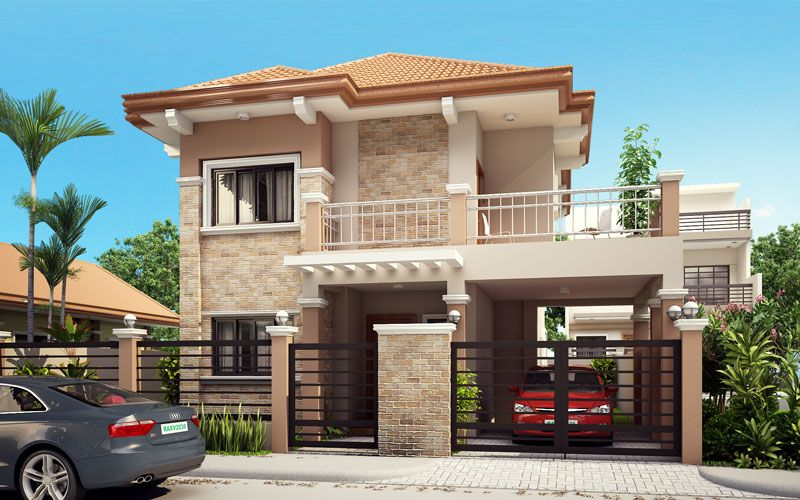 House plans two story with balcony home design and style for Best new home plans