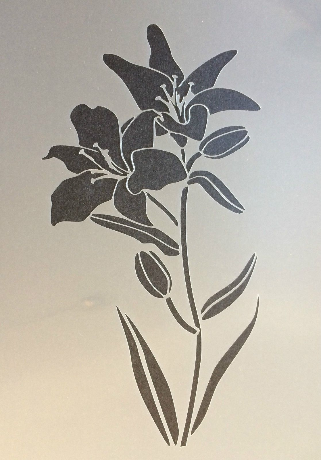 Lily Flower Plant Floral A4 Mylar Reusable Stencil Airbrush Painting